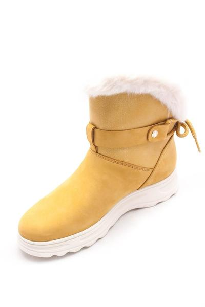 zapatillas geox mujer piel amarilla