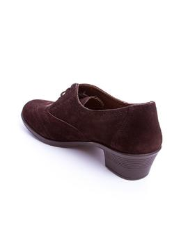 Zapato 24 Hrs tacon cordon marron
