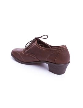 Zapato 24 Hrs tacon marron en marron